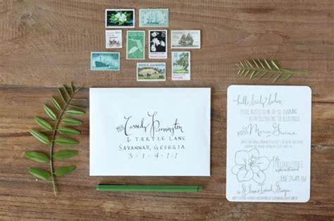 southern magnolia bridal luncheon invitation