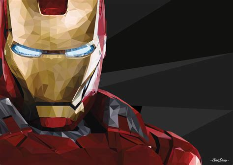 wallpaper iron man  poly  creative graphics
