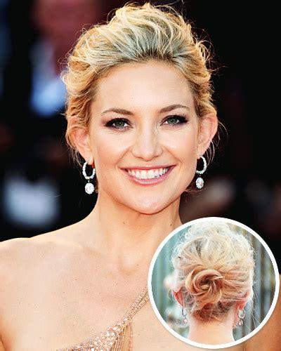 kate hudson hair styles new year s hair idea a soft chignon like elizabeth 3655