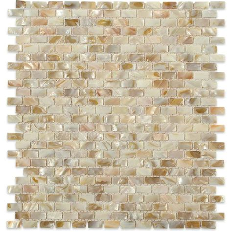 Home Depot Wall Tile Kitchen by Splashback Tile Baroque Pearls Mini Brick 12 In X 12 In