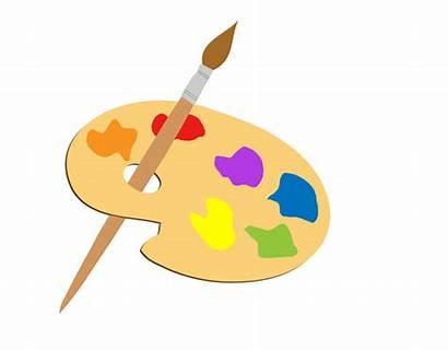 Clipart Palette Artists Paint Brush Domain