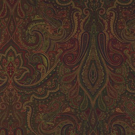 Ralph Upholstery Fabric by Ralph Fabric Dalmeny Paisley Woodland
