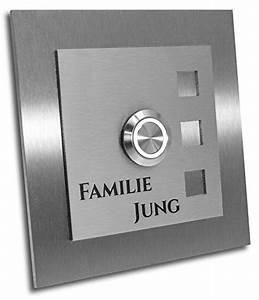 Jung Edelstahl Design : jung edelstahl design t rklingel mit gravur klingelplatte 10 10 cm led taster weiss ~ Orissabook.com Haus und Dekorationen