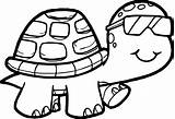 Glasses Drawing Turtle Coloring Printable Funny Getdrawings sketch template