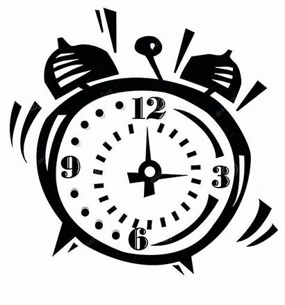 Alarm Clock Ringing Coloring Loud Pages Clipart