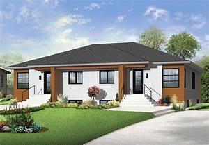 multi family plan 65384 at familyhomeplanscom With ordinary plan de belle maison 4 maison contemporaine modele