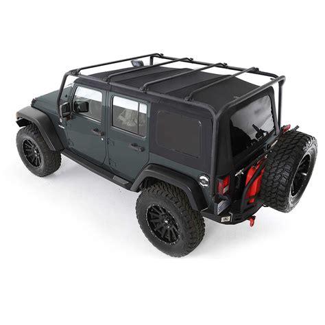 jeep jk roof rack smittybilt 76717 src roof rack wrangler jk 4 doors