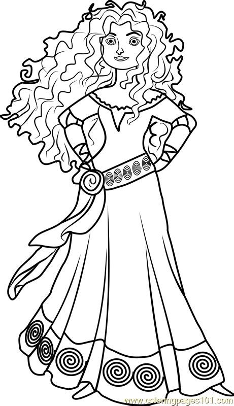 merida coloring pages coloring home