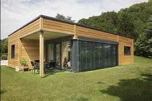 myotte duquet architecture bois plain pied 100m2 contemporain With photo bardage bois exterieur 6 maison ossature bois plain pied