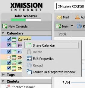 calendars transmission