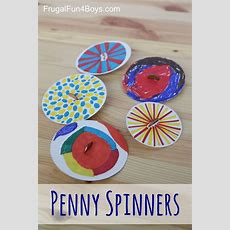 Penny Spinners  Toy Tops That Kids Can Make  Fun For