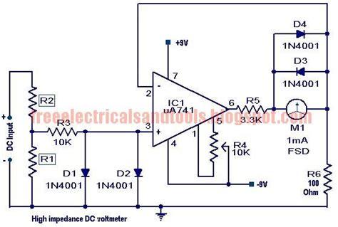Free Schematic Diagram High Impedance Voltmeter