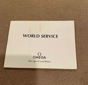 Omega World Service Booklet Cal  1378 1450