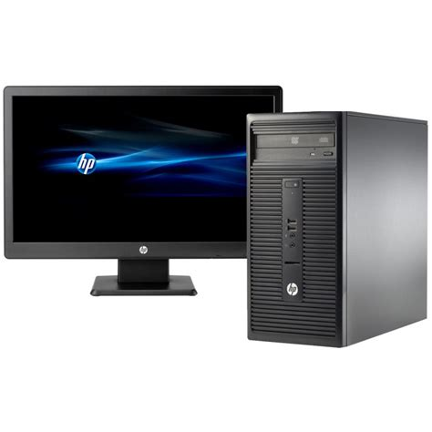 but informatique pc bureau pc de bureau hp 280 g1 dual 2 go