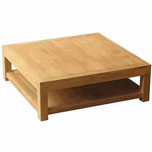 Table Salon Carrée : table basse carr e en teck brut 120x120x40cm lombok ~ Teatrodelosmanantiales.com Idées de Décoration