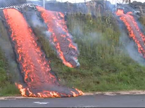 lava flow continues to sweep across hawaii americas
