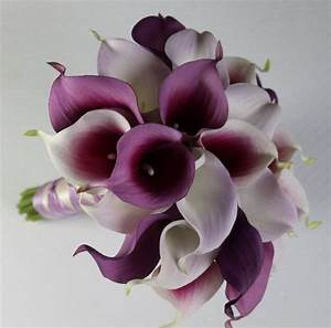 Wedding Bouquet Purple Calla Lilly Bouquet Bridal Bouquet ...