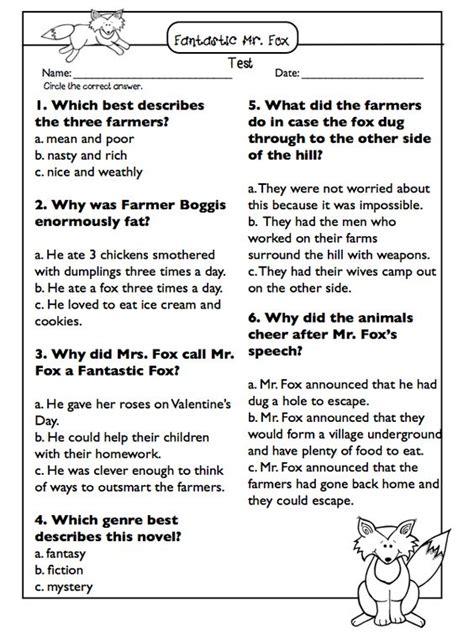 Fantastic Mr Fox Novel Study & Literature Circle Sheets Roald Dahl  Literature, Fantastic Mr