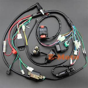 Full Electrics Wiring Harness Coil Cdi Spark Plug Kits For 50cc 70cc 90cc 110cc 125cc 140cc Atv