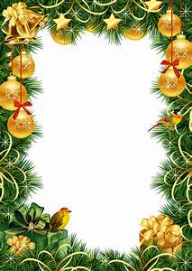 Christmas Transparent PNG Photo Frame with Gold Christmas ...