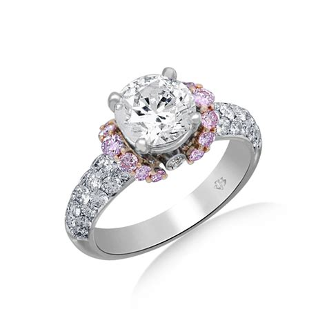 Jack Kelege Diamond Engagement Ring With Pink Diamond. Four Carat Engagement Rings. Modern Man's Wedding Rings. Cadenza Wedding Rings. Pinterest Rings. High School Graduation Rings. Green Stone Rings. Mechanic Wedding Rings. Common Engagement Rings