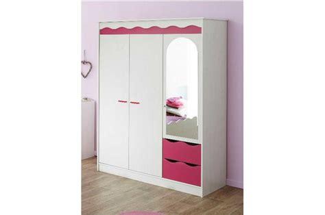armoire chambre fille 2 tiroirs et 3 portes