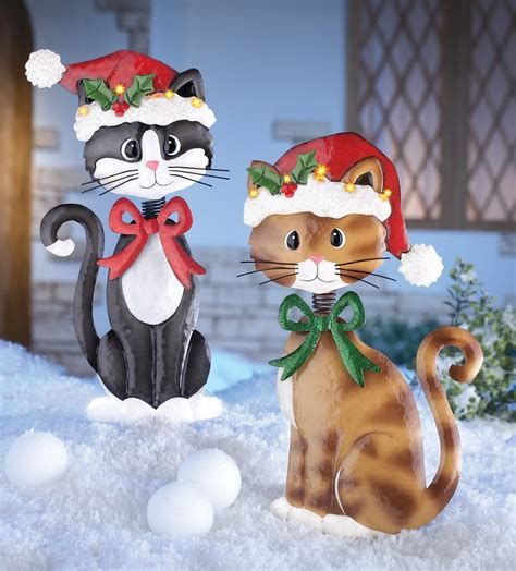 clever cute  festive cat christmas decorations
