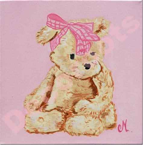 tableau ourson chambre bébé tableau bébé ours décoration chambre enfant bébé