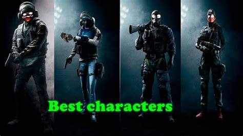 characters rainbow  siege youtube