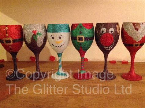 wine glass christmas stickers festival collections