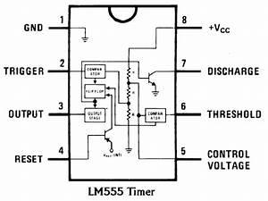 Ic 555  Block And Pin Diagram