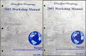 2001 Ford Ranger Repair Shop Manual Original 2 Volume Set