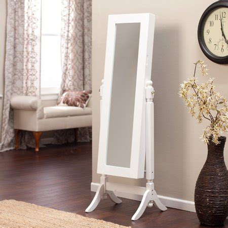 Cheval Mirror Jewelry Armoire by Heritage Jewelry Armoire Cheval Mirror High Gloss White
