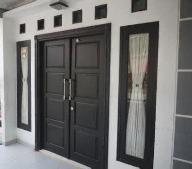 contoh model pintu rumah minimalis modern desain rumah