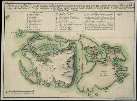 Spanish map of the Falkland Islands 1769 #map #falklands