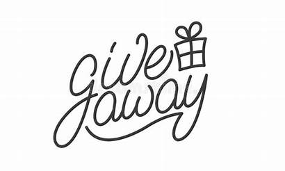 Give Away Template Label Neon Blogging Element
