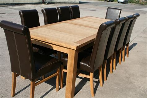 Large Oak Dining Room Table Seats 10 / 12 / 14 Chairs