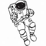 Astronaut Drawing Space Astronauts Drawings Coloring Pages Stickers Sticker Draw Simple Line Decal Wall Clipart Result Clipartmag Sketches Getdrawings Children sketch template