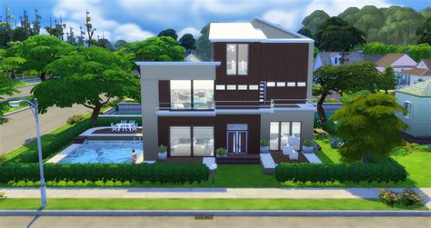 home plans for small lots modern home sims 4 houses
