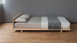 Kobe japanese style bed with headboard natural bed company for Furniture and mattress for you