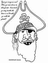 Pirate Colouring Eye Patch Printable Template Coloring Pages Dando Keith Sketch sketch template