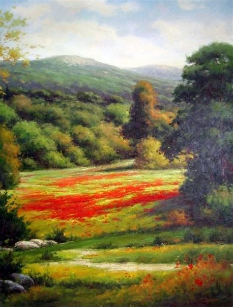 path  tuscan poppies vertical painting  frederick