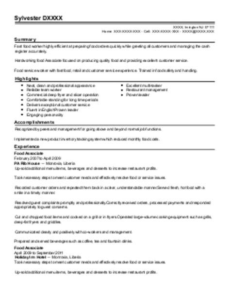 school food service manager iv resume exle orange