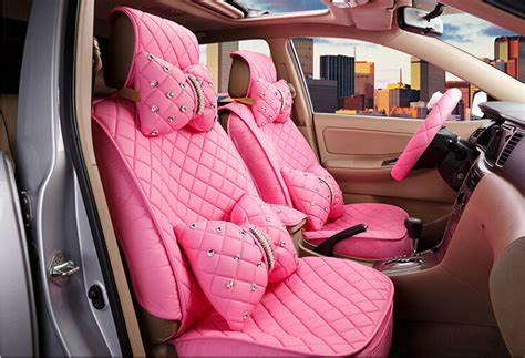 cover jok mobil 2016 new superior quality luxury pink seat covers leather
