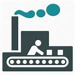 Manufacturing Icon Transparent Factory Production Icons Cartoon