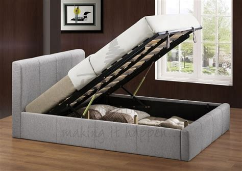 ottoman for foot of bed birlea brooklyn grey fabric 4ft small double ottoman bed
