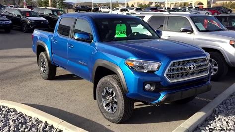 Toyota Tacoma Blue by 2017 Toyota Tacoma Cab Trd Road In Blazing Blue