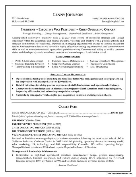 Best Executive Resume Style by Executive Chef Resume Sles System Administrator Resume Format