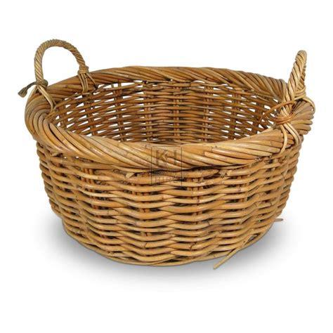 Baskets Prop Hire » 2handle woven wicker basket  Keeley Hire