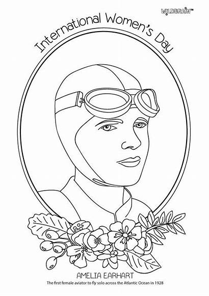 Coloring Xbox Pages Amelia International Earhart Colouring